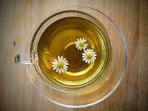 Cuvette de thé avec la camomille Image stock