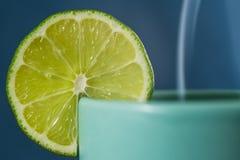 Cuvette de thé avec le citron images stock