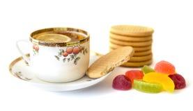 Cuvette de thé avec le citron Photos stock
