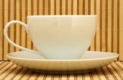 Cuvette de thé blanche Images libres de droits