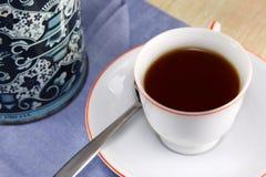 Cuvette de thé chaud Image libre de droits