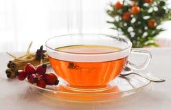 Cuvette de thé chaud Photographie stock