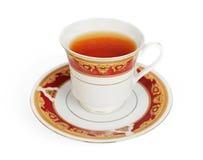 Cuvette de thé d'isolement sur le blanc Photos libres de droits