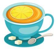 Cuvette de thé de citron Photographie stock libre de droits