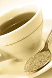 Cuvette de thé de matin photographie stock