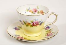 Cuvette de thé de Rose Photographie stock