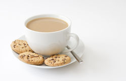 Cuvette de thé et de biscuits photos stock