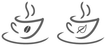 Cuvette de thé et de café Photographie stock