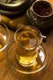Cuvette de thé et de narguilé turcs Images libres de droits
