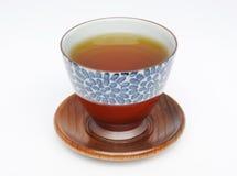 Cuvette de thé et thé japonais Photographie stock