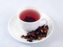 Cuvette de thé rouge Images libres de droits