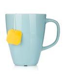 Cuvette de thé avec le sachet à thé Photographie stock