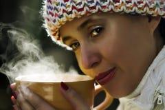 Cuvette de thé chaud Images libres de droits