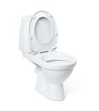 Cuvette de toilette d'isolement sur le fond blanc Le fichier contient un chemin à l'isolement Photos stock