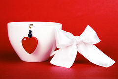 Cuvette de Valentine Photos libres de droits