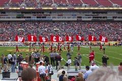 Cuvette du football du Wisconsin à l'intérieur Photo stock