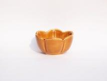 Cuvette en céramique de Brown Photo stock
