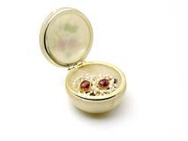 Cuvette en céramique de Jewelery Image libre de droits