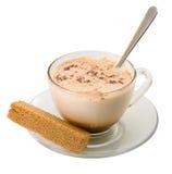 Cuvette en verre de cacao Image stock