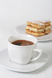 Cuvette et biscuit de café Photo libre de droits