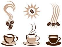 Cuvette et haricots de café illustration de vecteur