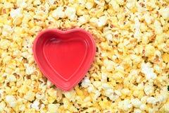 Cuvette et maïs de bruit Image stock