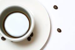 Cuvette et soucoupe de café Photographie stock libre de droits