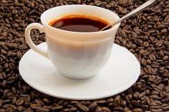 Cuvette et soucoupe de café Photo libre de droits