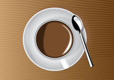 Cuvette et soucoupe de café Image stock