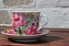 Cuvette et soucoupe de thé Photo libre de droits