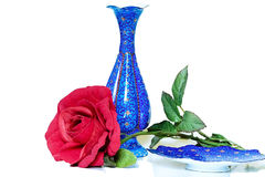 Cuvette et soucoupe persanes photographie stock