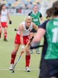 Cuvette européenne Allemagne 2011 d'Englan v Ireland.Hockey Photo stock
