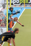 Cuvette européenne Allemagne 2011 de l'Angleterre V Belgium.Hockey Photo stock