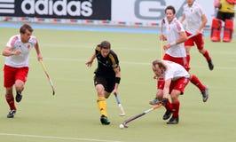 Cuvette européenne Allemagne 2011 de l'Angleterre V Belgium.Hockey Photos stock