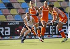 Cuvette européenne Allemagne 2011 de l'Angleterre v Holland.Hockey Photo stock