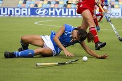 Cuvette européenne Allemagne 2011 de la Belgique v Italy.Hockey Photos libres de droits
