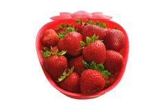 Cuvette formée par fraise Images stock