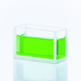 Cuvette with green liquid Royalty Free Stock Photography