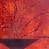 Cuvette peinte de fleur Image stock