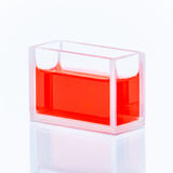 Cuvette with red liquid Royalty Free Stock Photography