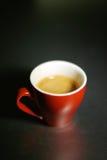 Cuvette rouge de café express Images libres de droits