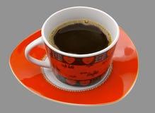 Cuvette rouge de coffe Photos libres de droits