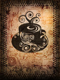 Cuvette sale de coffe Photos libres de droits