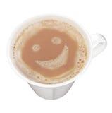 Cuvette savoureuse de cappuccino Images libres de droits