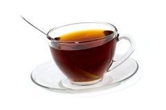 Cuvette transparente de thé Photographie stock libre de droits