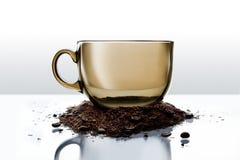 Cuvette transparente de thé Photo stock