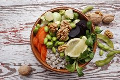 Cuvette végétarienne de Bouddha Image stock