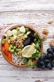 Cuvette végétarienne de Bouddha Images stock
