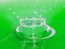 Cuvette verte de l'eau Photographie stock libre de droits