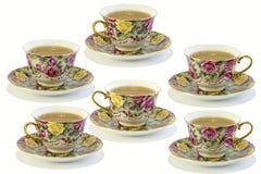 Cuvettes avec du thé Photographie stock